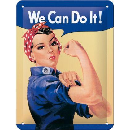 Placa metalica 15X20 We can do it!