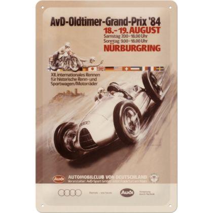 Placa metalica 20X30 Audi AvD Oldtimer Grand Prix