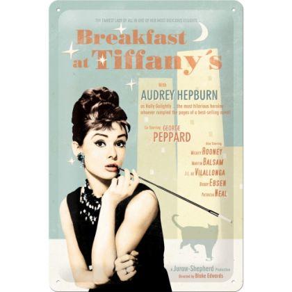 Placa metalica 20X30 Breakfast at Tiffany's