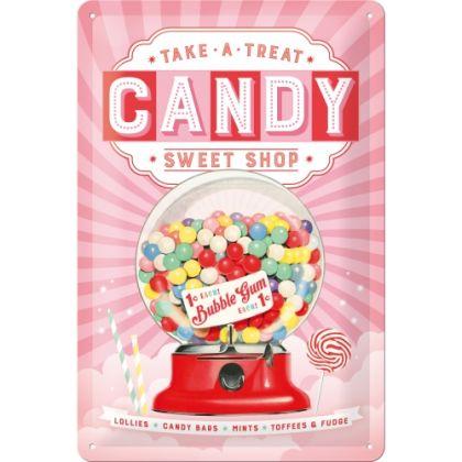 Placa metalica 20x30 Candy