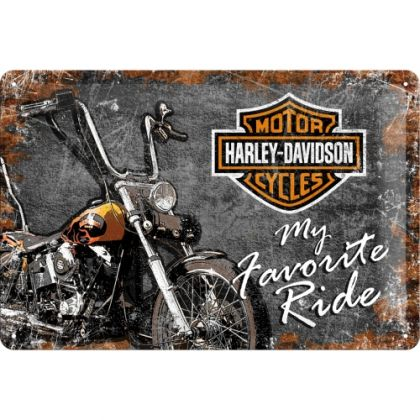 Placa metalica 20X30 Harley-Davidson - My Favorite Ride