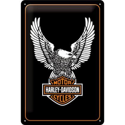 Placa metalica 20X30 Harley-Davidson Eagle