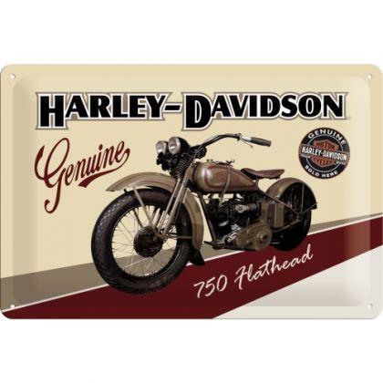 Placa metalica 20X30 Harley-Davidson Flathead