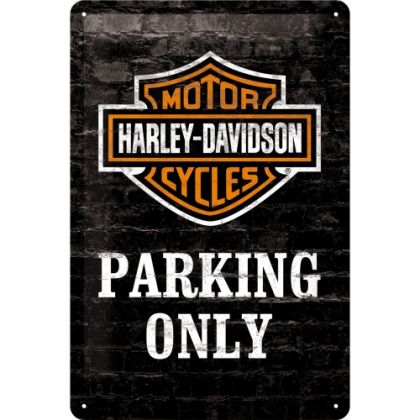 Placa metalica 20X30 Harley-Davidson Parking Only