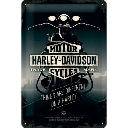 Placa metalica 20X30 Harley-Davidson-Things Are Different