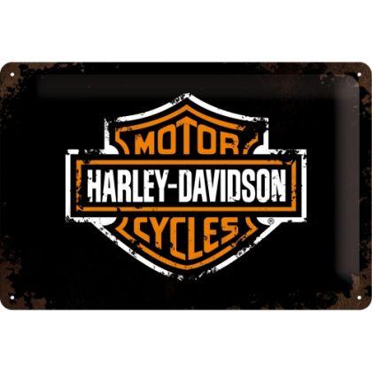 Placa metalica 20X30 Harley-Davidson