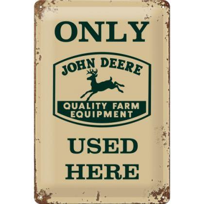 Placa metalica 20X30 John Deere Exclusive