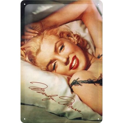 Placa metalica 20X30 Marilyn Monroe - sleepy