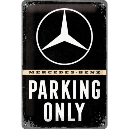 Placa metalica 20x30 Mercedes-Benz Parking Only