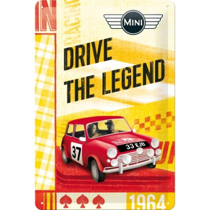 Placa metalica 20x30 Mini - Drive The Legend