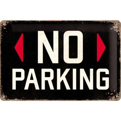Placa metalica 20X30 No Parking