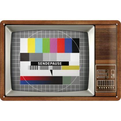 Placa metalica 20x30 Retro TV