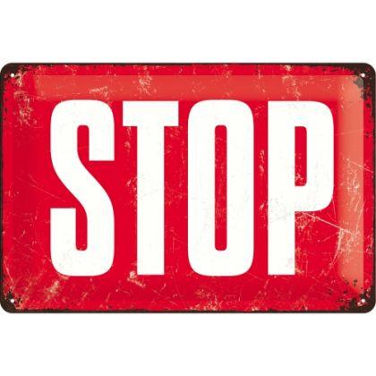 Placa metalica 20X30 STOP