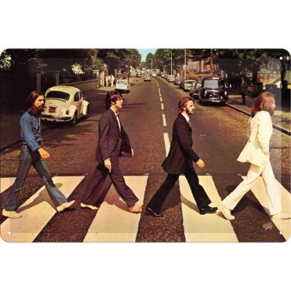 Placa metalica 20X30 The Beatles-Abbey Road