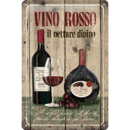 Placa metalica 20X30 Vino Rosso