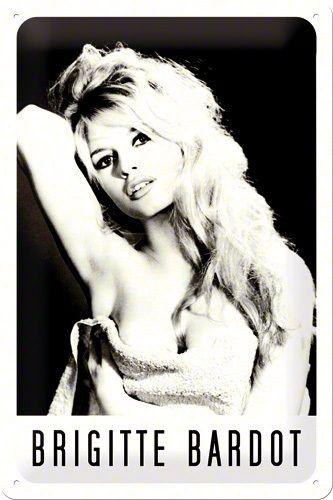 Placa metalica 20x30 Brigitte Bardot