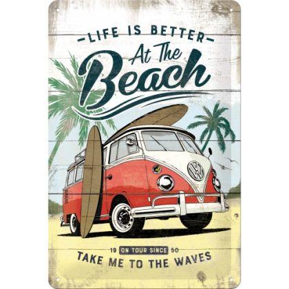 Placa metalica 20x30 Volkswagen Bulli Beach