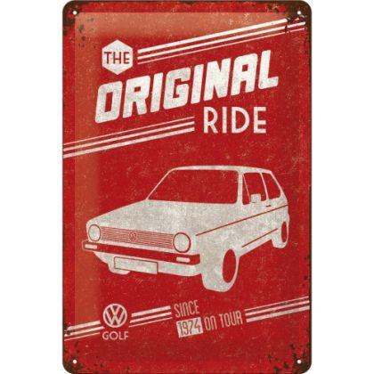 Placa metalica 20X30 VW Golf - The Original