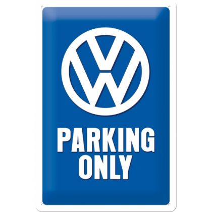 Placa metalica 20x30 VW Parking Only