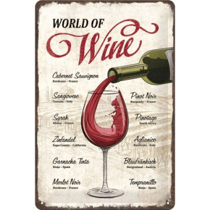 Placa metalica 20x30 World of Wine