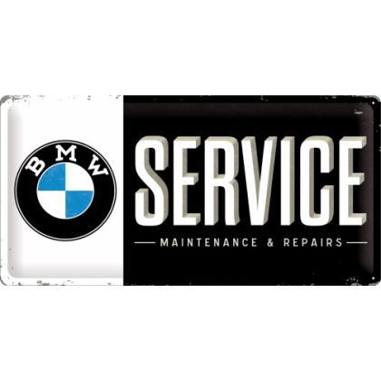 Placa metalica 25X50 BMW - Service