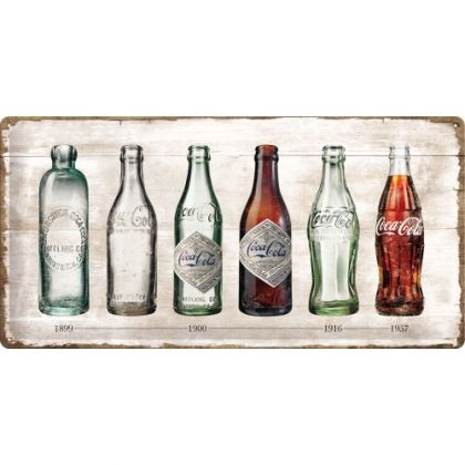 Placa metalica 25X50 Bottle Timeline