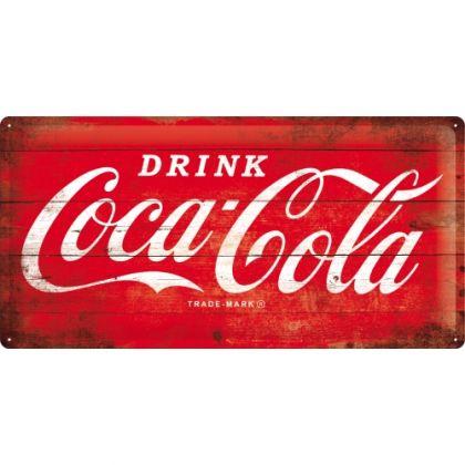 Placa metalica 25X50 Coca-Cola - Logo Red