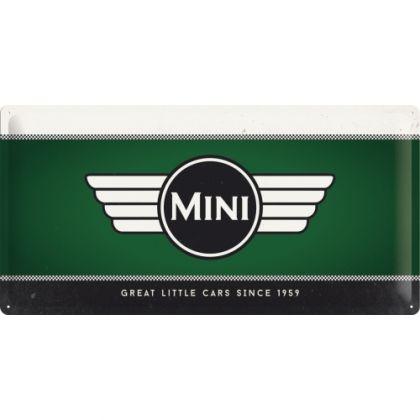 Placa metalica 25X50 Mini-Logo Green