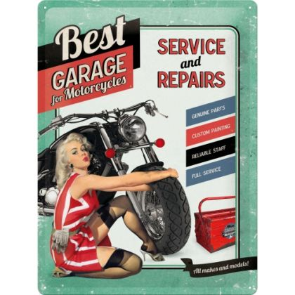 Placa metalica 30X40 Best Garage