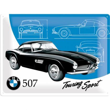 Placa metalica 30X40 BMW - 507 Touring Sport