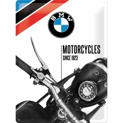 Placa metalica 30X40 BMW - Motorcycles Since 1923