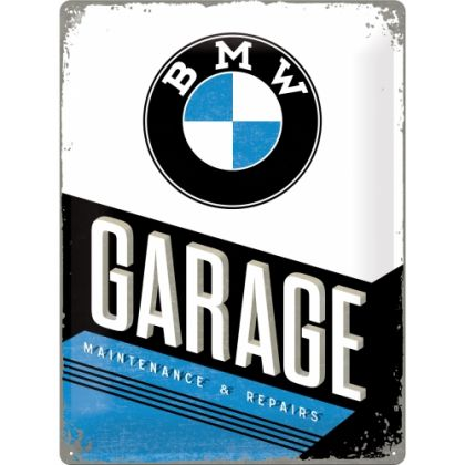 Placa metalica 30X40 BMW-Garage
