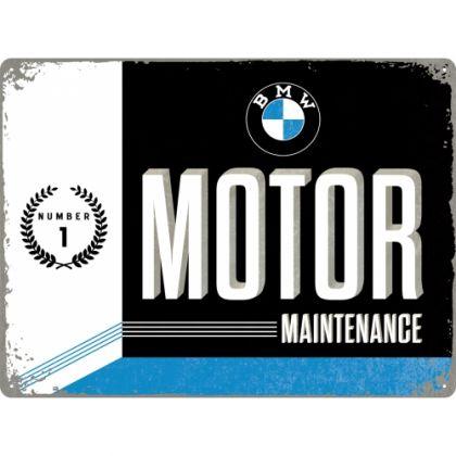 Placa metalica 30x40 BMW MOTOR