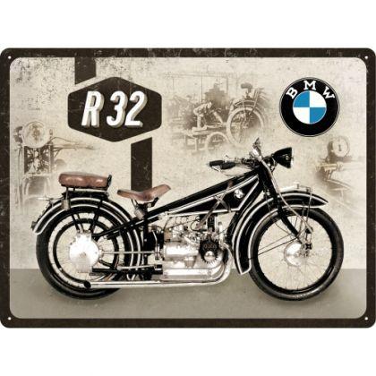 Placa metalica 30X40 BMW-Motorcycle R32