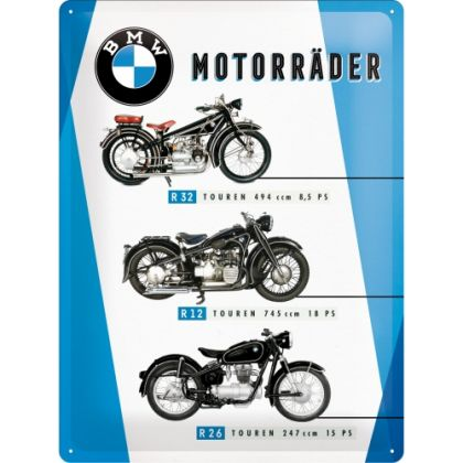 Placa metalica 30x40 BMW Motorcycles Chart