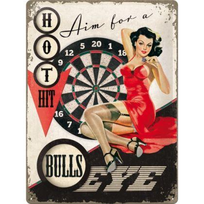 Placa metalica 30X40 Bulls Eye