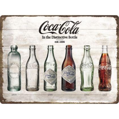 Placa metalica 30X40 Coca-Cola Timeline