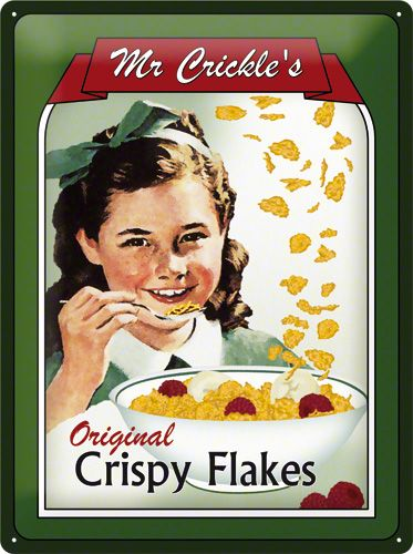 Placa metalica 30X40 Crispy Flakes