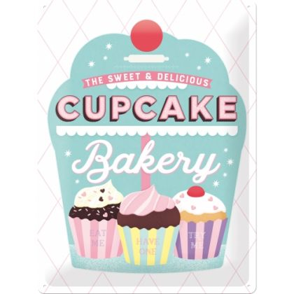 Placa metalica 30x40 Cupcake