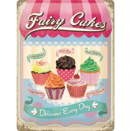 Placa metalica 30X40 Fairy Cakes