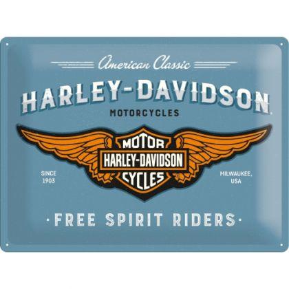 Placa metalica 30x40 Harley-Davidson Free Spirit