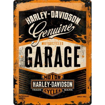 Placa metalica 30X40 Harley-Davidson Garage