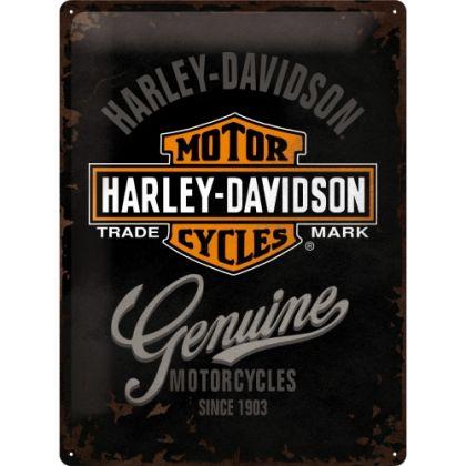 Placa metalica 30X40 Harley-Davidson Genuine