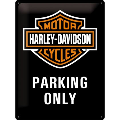 Placa metalica 30X40 Harley-Davidson Parking Only