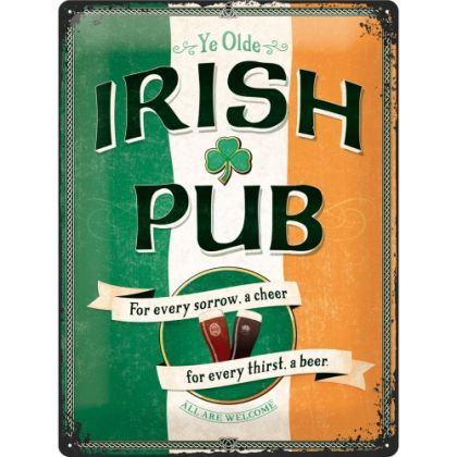 Placa metalica 30X40 Irish Pub