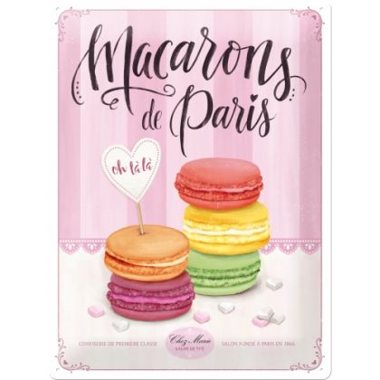 Placa metalica 30x40 Macarons de Paris