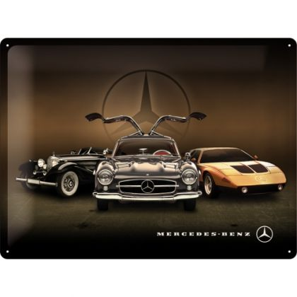 Placa metalica 30x40 Mercedes-Benz 3 masini
