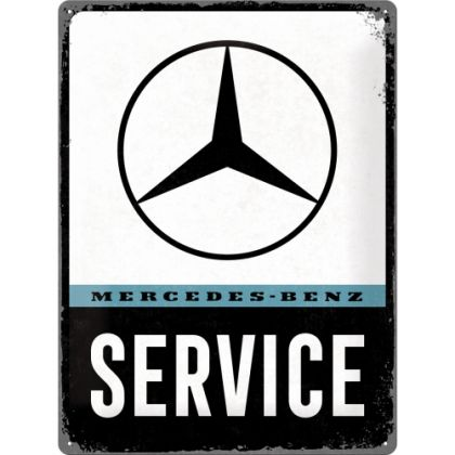 Placa metalica 30x40 Mercedes-Benz Service