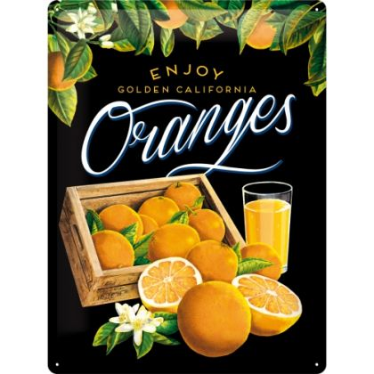 Placa metalica 30X40 Oranges black