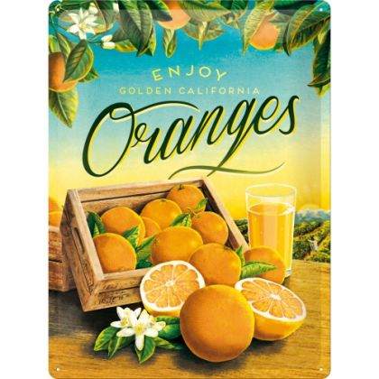 Placa metalica 30X40 Oranges